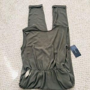 Zara olive green jumpsuit. Brand New. XS